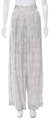 Donna Karan Brocade Wide-Leg Pants w/ Tags