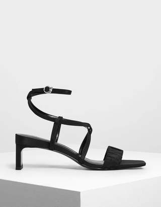 Charles & Keith Ruch-Effect Strappy Sandals