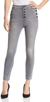 J Brand Natasha Sky High Crop Skinny Jeans in Pearl Gray