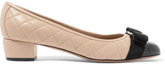 Salvatore Ferragamo Vara Patent And Quilted-leather Pumps
