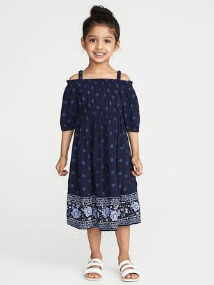 Old Navy Printed Off-the-Shoulder Midi for Toddler Girls