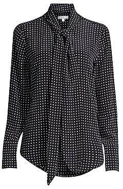 c08ca1017c122 Equipment Women s Luis Nostalgia Polka Dot Silk Blouse