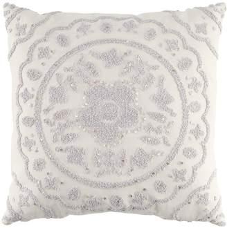Lauren Conrad Gray Medallion Throw Pillow