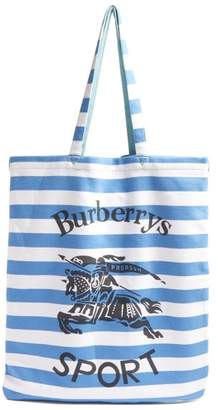 Burberry Striped Tote Bag - Mens - Blue White
