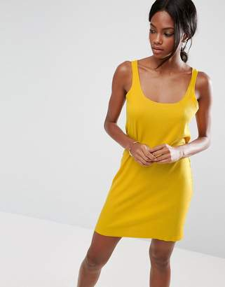 ASOS Ultimate Ribbed Mini Tank Dress with Raw Edge $24 thestylecure.com