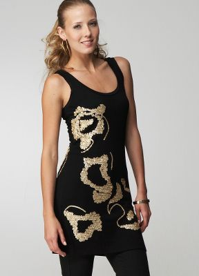 Rare Sequin Embellished Jersey Dress