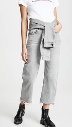 Alexander Wang Denim X Stack Crop Tie Jeans