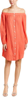 Three Dots Gauze Tunic