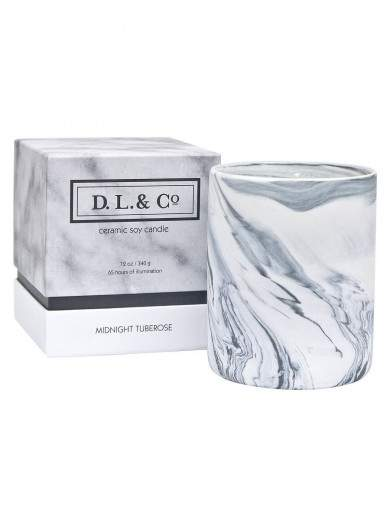 Midnight Tuberose Marbled Tumbler Candle