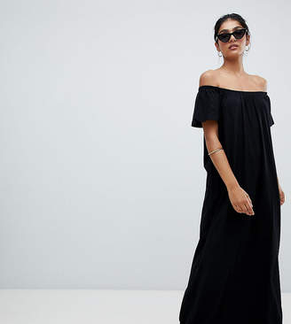 Asos Tall TALL Off Shoulder Maxi Dress