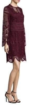 Laundry by Shelli Segal Long-Sleeve Lace Dress