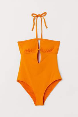 H&M Halterneck swimsuit - Orange