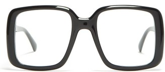 Givenchy Square Frame Acetate Glasses - Womens - Black