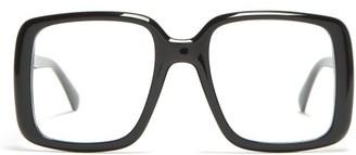 Givenchy Square Frame Acetate Glasses - Womens - Black
