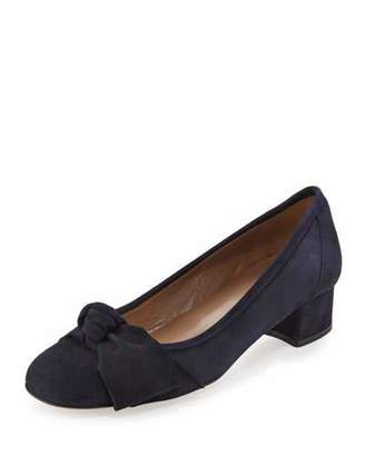Sesto Meucci Fadia Knotted Low-Heel Pump, Navy $230 thestylecure.com