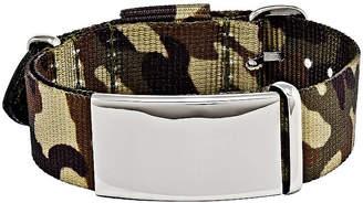 FINE JEWELRY Mens Stainless Steel Brown Camo Adjustable ID Bracelet