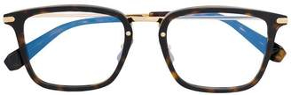 Brioni rectangle frame tortoiseshell glasses