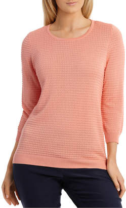 Regatta Must Have Circle Textured 3/4 Sleeve Jumper