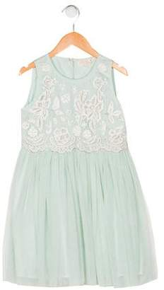 Tutu De Monde Girls' Embroidered Sleeveless Dress
