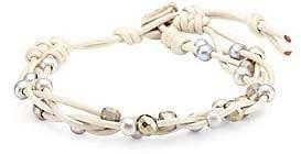 Chan Luu Pearl Pendant Silver Chain Mix Bracelet