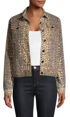 ATM Anthony Thomas Melillo Leopard Denim Jacket