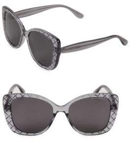 Bottega Veneta DNA Intrecciato 53MM Butterfly Sunglasses