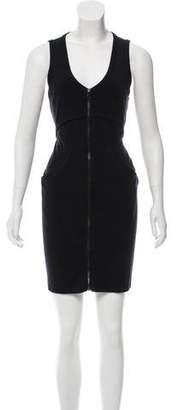 Alexander Wang Zip-Up Sleeveless Mini Dress