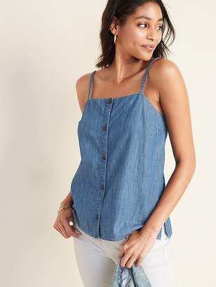 Old Navy Button-Front Chambray Cami for Women