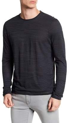 John Varvatos Distorted Stripe Crew Neck Sweater