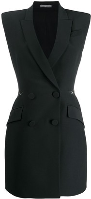 Alexander McQueen Double-breasted slash mini dress