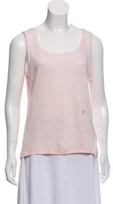 Sonia Rykiel Sleeveless Linen Top