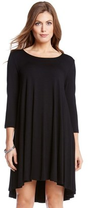 Women's Karen Kane 'Maggie' Three Quarter Sleeve Trapeze Dress $99 thestylecure.com