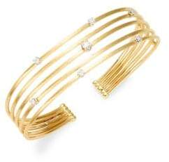Marco Bicego Luce 18K Yellow Gold, White Gold & Diamond Cuff Bracelet