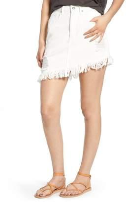 Somedays Lovin Shimmering Bays Ripped Denim Skirt