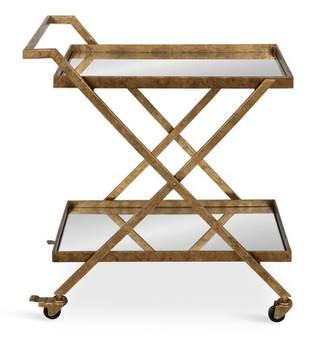 Rosdorf Park Curran 2-Shelf Metal and Mirror Tray Bar Cart Rosdorf Park