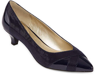 East Fifth east 5th Hammock Womens Slip-on Pointed Toe Cone Heel Pumps