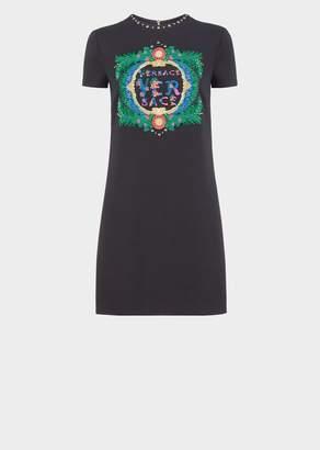 Versace Beverly Palm Shift cady Dress