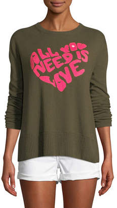 Lisa Todd All You Need is Love w/ Heart Intarsia Sweater, Plus Size