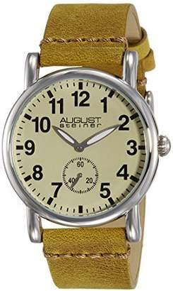 August Steiner Women's AS8110BR Swiss Quartz Silver-tone Brown Leather Strap Watch