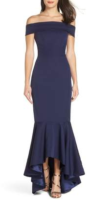 CHI CHI LONDON Off the Shoulder Fishtail Gown