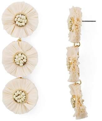 Aqua Raffia Multi-Floral Drop Earrings - 100% Exclusive