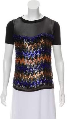 Versace Silk Embellished Top