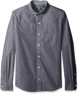 Izod Men's Essential Slim Solid Long Sleeve Shirt