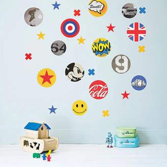 Koko Kids Children's Pop Art Fabric Wall Stickers
