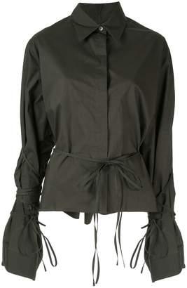 MM6 MAISON MARGIELA tied button-up long-sleeved shirt