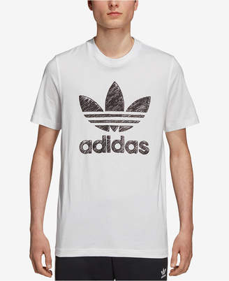 adidas Men's Originals Hand-Drawn-Look Logo T-Shirt