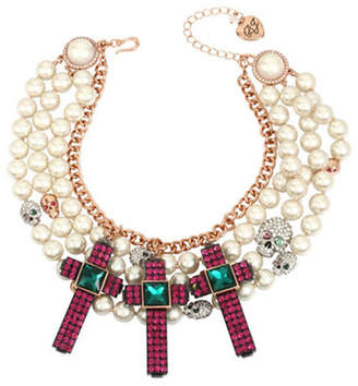 Betsey Johnson Duchess of Betseyville Two-Tone Statement Necklace