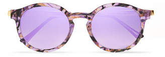 Thierry Lasry Silenty V113 Round-frame Acetate And Gold-tone Sunglasses - Purple