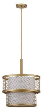 Safavieh 17-Inch Evie Antique 6 Light Mesh Adjustable Pendant