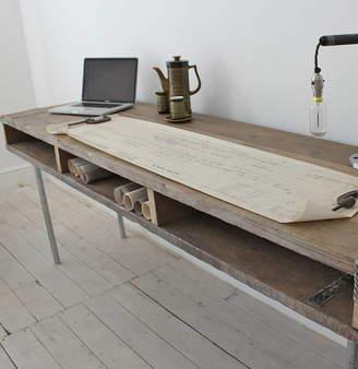 Urban Grain Ellie Reclaimed Wood Desk With Steel Legs